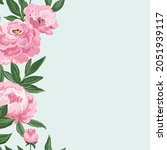 stylish gouache hand drawn...   Shutterstock . vector #2051939117