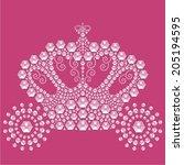 vintage fairytale carriage... | Shutterstock .eps vector #205194595