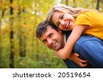 young blond embraces man from... | Shutterstock . vector #20519654