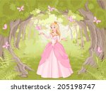 charming princess a fantastic... | Shutterstock .eps vector #205198747