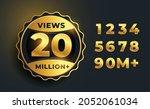 20 million video views golden...   Shutterstock .eps vector #2052061034