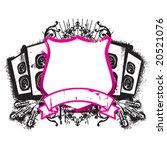 music emblem   Shutterstock .eps vector #20521076
