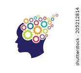 concept of brain with gears.... | Shutterstock .eps vector #205212814