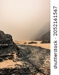 Foggy Landscape On Sandy Beach...