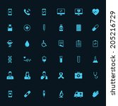 medical infographic icon set on ... | Shutterstock .eps vector #205216729