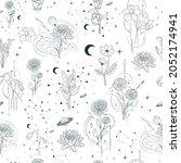 celestial birth month flower... | Shutterstock .eps vector #2052174941