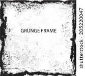 grunge frame. vector... | Shutterstock .eps vector #205220047