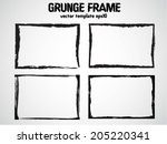 abstract grunge frame set | Shutterstock .eps vector #205220341