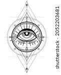 eye of providence. masonic...   Shutterstock .eps vector #2052203681