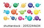 mineral supplement set. 3d...   Shutterstock .eps vector #2052244634