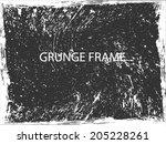 grunge frame. vector template | Shutterstock .eps vector #205228261