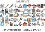 car service lineal multi color...