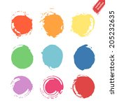 vector set of grunge rainbow... | Shutterstock .eps vector #205232635