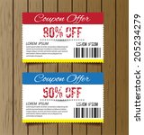 coupon sale  offers and... | Shutterstock .eps vector #205234279
