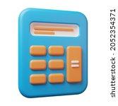 3d illustration of calculator...