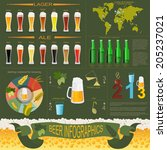 beer infographics  set elements ... | Shutterstock .eps vector #205237021