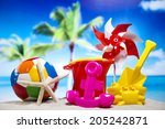 vacation background | Shutterstock . vector #205242871