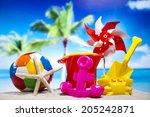 vacation background | Shutterstock . vector #205242871