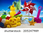 beach toys  vacation | Shutterstock . vector #205247989