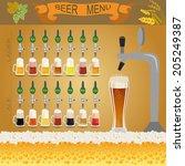 beer menu set  creating your... | Shutterstock .eps vector #205249387