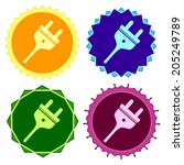 set of colorful button.vector...