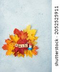 Autumn Maple Leaves And Cute...