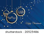 blue christmas card | Shutterstock .eps vector #20525486