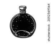 magic potion  black bottle....   Shutterstock .eps vector #2052569564