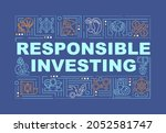 responsible investing word...
