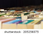 Colorful Old Books Lined Up Fo...