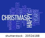 abstract christmas card with... | Shutterstock .eps vector #20526188