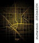 Fresno, California, United States City Map - Fresno City Gold Map Poster Wall Art Home Decor Ready to Printable