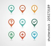 mapping pins icon | Shutterstock .eps vector #205273189
