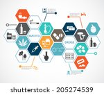narcotic drugs infographic | Shutterstock .eps vector #205274539