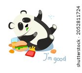 The Overeating Panda Lies With...