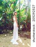 fashion portrait of stylish... | Shutterstock . vector #205292527