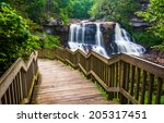 Blackwater Falls And A Trail A...