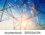 power tower in the sky... | Shutterstock . vector #205326154