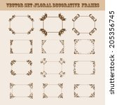 vector set of decorative ornate ... | Shutterstock .eps vector #205356745