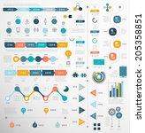 Set Of Timeline Infographic...