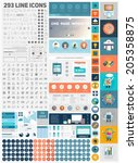 one page website design... | Shutterstock .eps vector #205358875