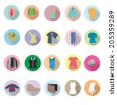 clothes icons set | Shutterstock .eps vector #205359289