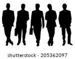 five black businessmen... | Shutterstock . vector #205362097