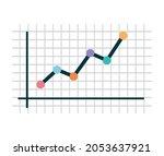nice graph design over white | Shutterstock .eps vector #2053637921