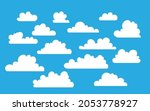 cloud icons set in flat style...