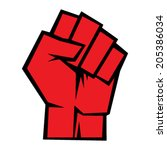 raised fist vector icon | Shutterstock .eps vector #205386034