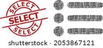 red round stamp seal has select ...