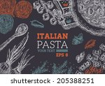 vintage paste frame | Shutterstock .eps vector #205388251