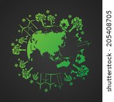 ecological and save the world... | Shutterstock .eps vector #205408705