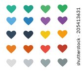 heart icon vector with colorful | Shutterstock .eps vector #205413631